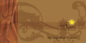 Lieber Freund! - Romantik Hotel & Restaurant zur Sonne Badenweiler