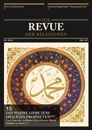 Revue der Religionen April/Juni 2012 - Ahmadiyya Muslim Jamaat ...