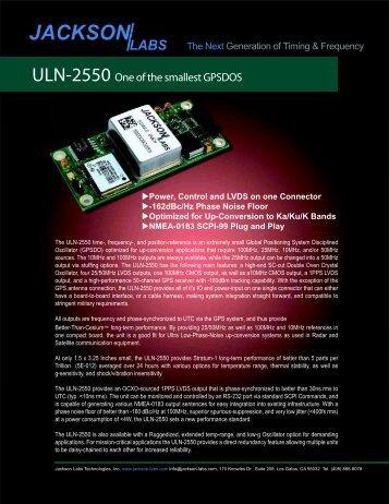 Brochure - Jackson Labs Technologies, Inc.