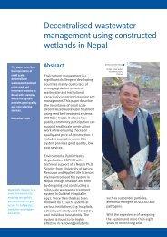 Decentralised wastewater management using ... - WaterAid