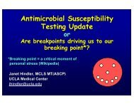 Antimicrobial Susceptibility Testing Update - SWACM