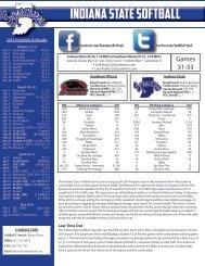 Game Notes - Indiana State University Athletics