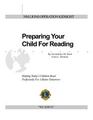 Preparing Your Child For Reading Helping Today's ... - Nmlions.org
