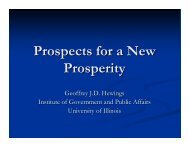 Prospects for Illinois - Institute of Government & Public Affairs ...