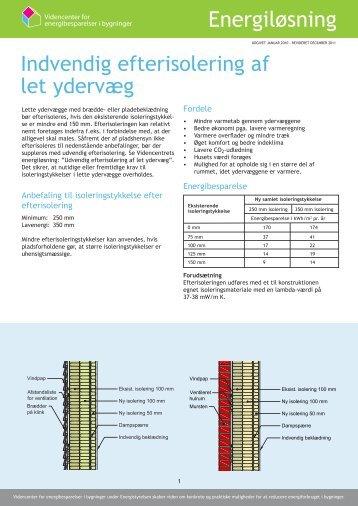Indvendig efterisolering af let ydervæg - Videncenter for ...