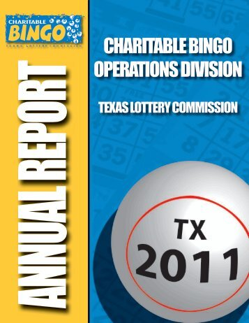 CHARITABLE BINGO OPERATIONS DIVISION - Txbingo.org