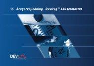 Brugervejledning - Devireg™ 550 termostat