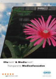 Illumesh® & Mediamesh® Transparente Medienfassaden
