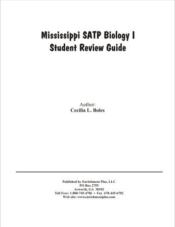 Mississippi SATP Biology I Student Review Guide - Enrichment Plus
