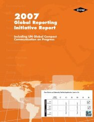 Global Reporting Initiative Report - The Dow Chemical Company