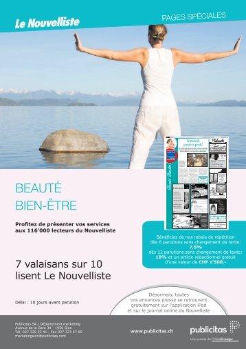 bEAUTé bIEN-ÊTRE - Le Nouvelliste – Publicité Presse Internet ...