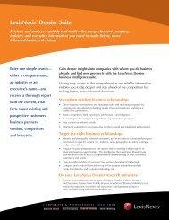 LexisNexis® Dossier Suite - Corporate Counsel