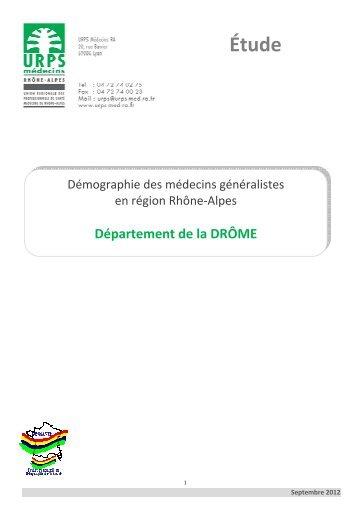 Drôme - L'Union Régionale des Professionnels de santé Médecins ...