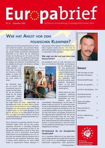 Europabrief September 2006 - Glante, Norbert