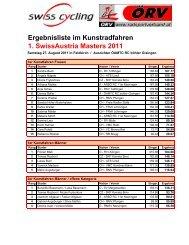 1. SwissAustria Masters 2011 - Swiss Cycling