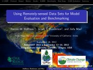 Using Remotely-sensed Data Sets for Model Evaluation and ...