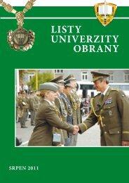 Listy Univerzity obrany 6/VII - Univerzita obrany