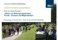 Präsentation - Professional School of Education