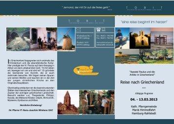 Reisen für Gruppen Sie möchten eine Gruppenreise ... - Tobit-Reisen -