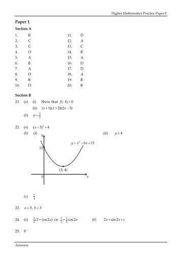 Paper F Answers