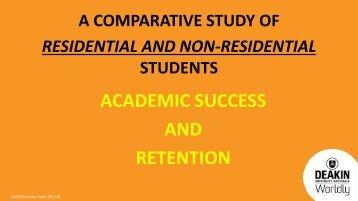 academic success; retention rates