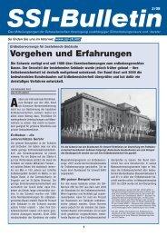 SSI-Bulletin 2/08 - Schweizerische Vereinigung unabhängiger ...