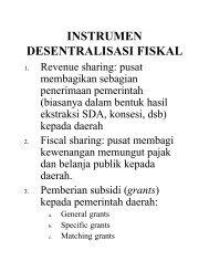 INSTRUMEN DESENTRALISASI FISKAL - Kumoro.staff.ugm.ac.id