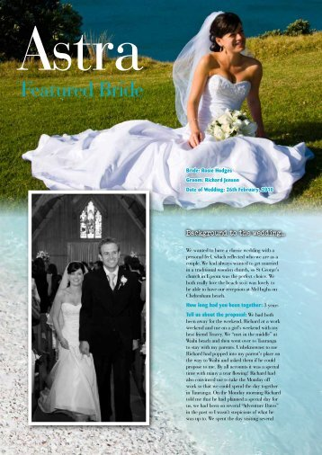 Featured Bride - Astra Bridal
