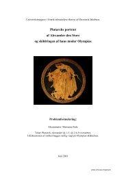 Plutarchs portræt af Alexander den Store og ... - chresteria.dk