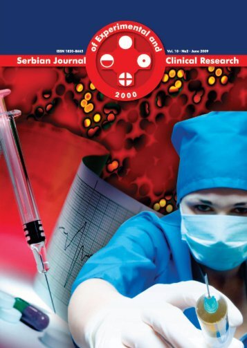 Serbian Journal of Experimental and Clinical Research Vol10 No2