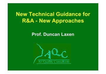 New Technical Guidance for R&A - New Approaches - IAPSC