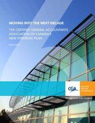 Strategic Plan 2010 - Certified General Accountants Association of ...
