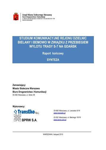 Synteza Raportu 2,71 MB - SISKOM
