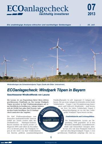 ECOanlagecheck - Lacuna AG