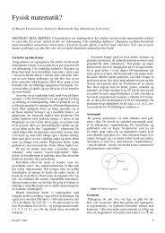 Fysmat - Institut for Matematiske Fag - Københavns Universitet