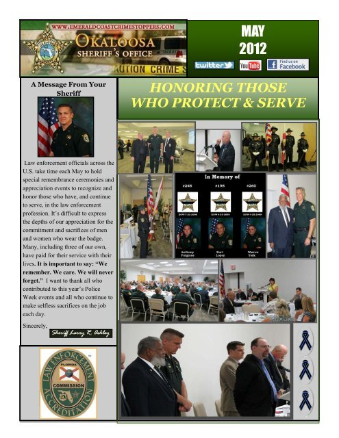 MAY 2012 - Okaloosa County Sheriff's Office