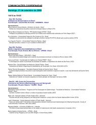 COMUNICAÇÕES COORDENADAS Domingo, 21 de ... - Epi2008