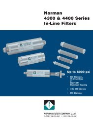 Norman 4300 & 4400 Series In-Line Filters - Norman Filter Company