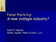 False Marking: A new cottage industry? - MIPLA