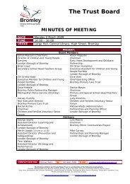 Minutes of Trust Board 020309 - Final 010609 mw.pdf - Bromley ...