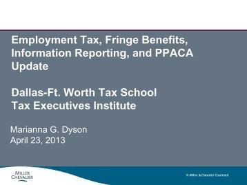 F-1 Emploment Tax Marianna Dyson - Tax Executives Institute, Inc.