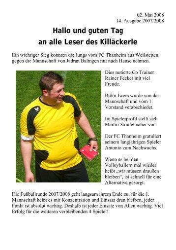 Spielbericht - FC Thanheim