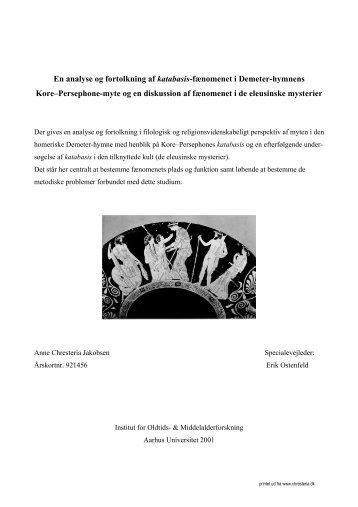 Den homeriske Demeterhymne og de eleusinske ... - chresteria.dk