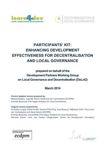 Participant's Kit - DeLoG