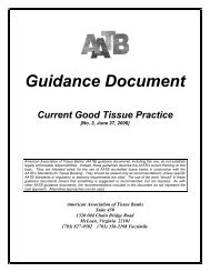 Guidance Document - American Association of Tissue Banks