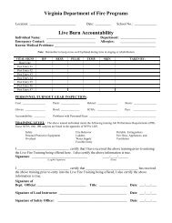1403 Live Burn Accountability Form - Virginia Department of Fire ...