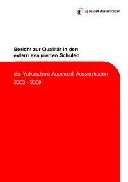 Bericht zur Qualität in den extern evaluierten Schulen 2003-09 - argev