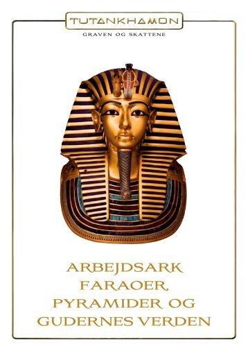 arbejdsark faraoer, pyramider og gudernes verden - Tutankhamon