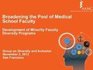 Broadening the Pool of Medical School Faculty - AAMC