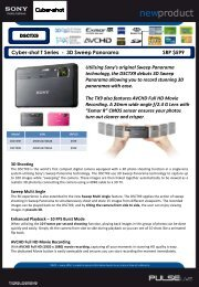 Cyber-shot T Series - 3D Sweep Panorama SRP $599 DSCTX9 ...
